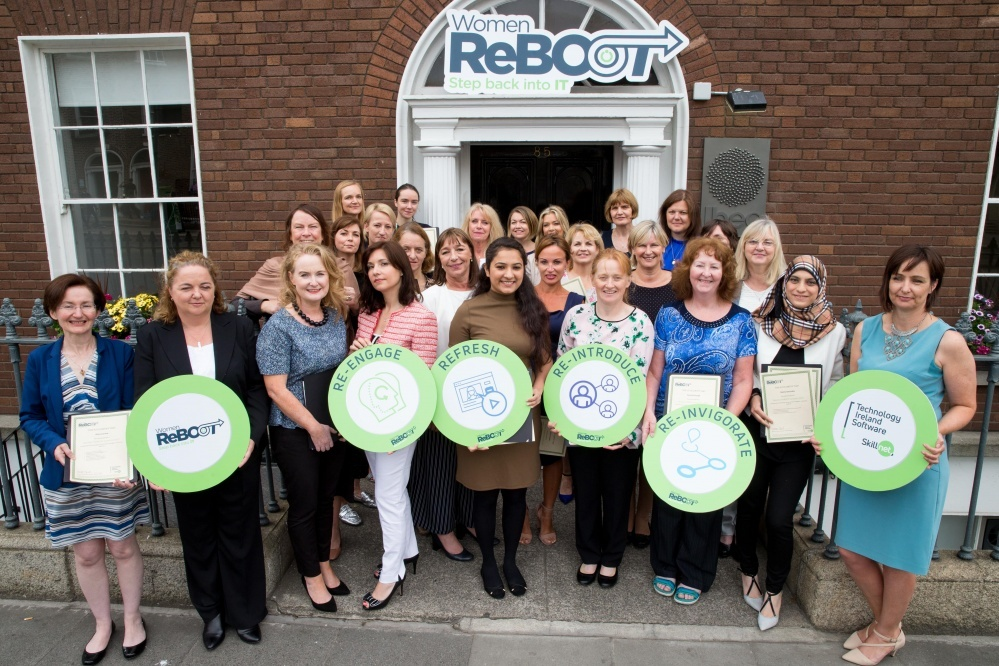 Women ReBOOT Dublin Autumn 2017 cohort at their Graduation Event in Ibec, 12 July 2018
